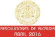 Resoluciones de Alcaldía - Abril 2016