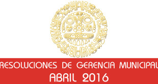 Resoluciones - Abril 2016