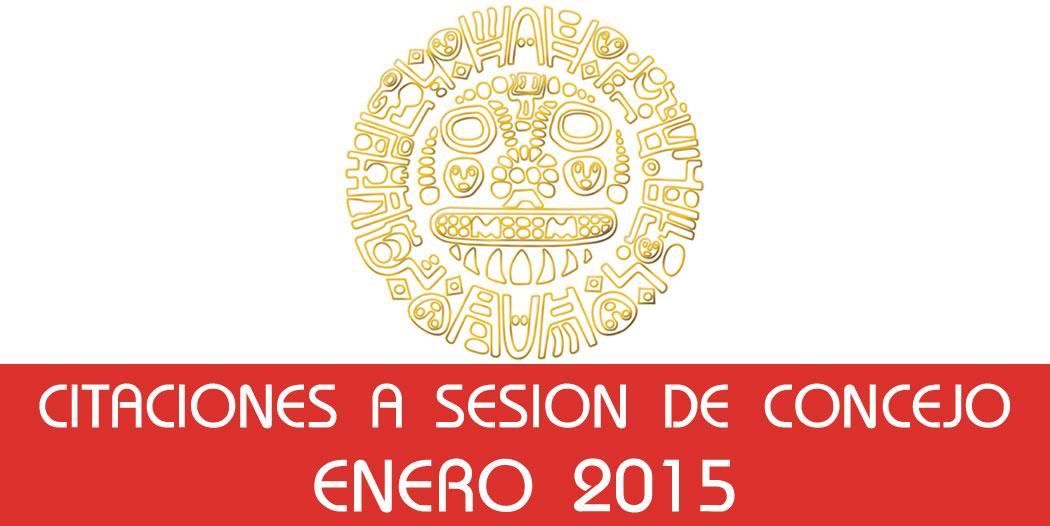 Citaciones a Sesión de Concejo – Enero 2015