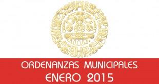 Ordenanzas Municipales - Enero 2015