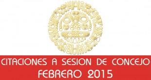 Citaciones a Sesión de Concejo - Febrero 2015
