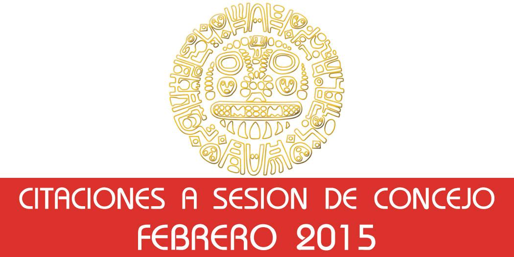 Citaciones a Sesión de Concejo – Febrero 2015