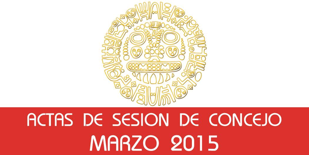 Actas de Sesión de Concejo – Marzo 2015