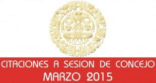 Citaciones a Sesión de Concejo - Marzo 2015
