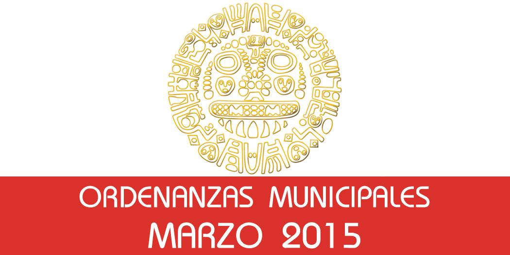 Ordenanzas Municipales – Marzo 2015