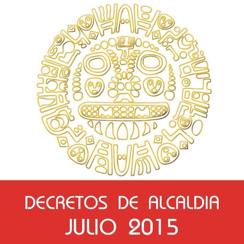 Decretos de Alcaldía – Julio 2015