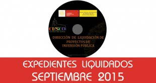 Expedientes Liquidados - Septiembre 2015