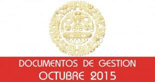 Documentos de Gestión - Octubre 2015