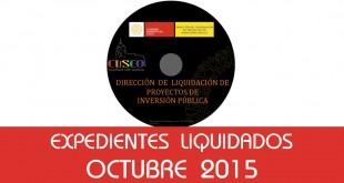Expedientes Liquidados - Octubre 2015