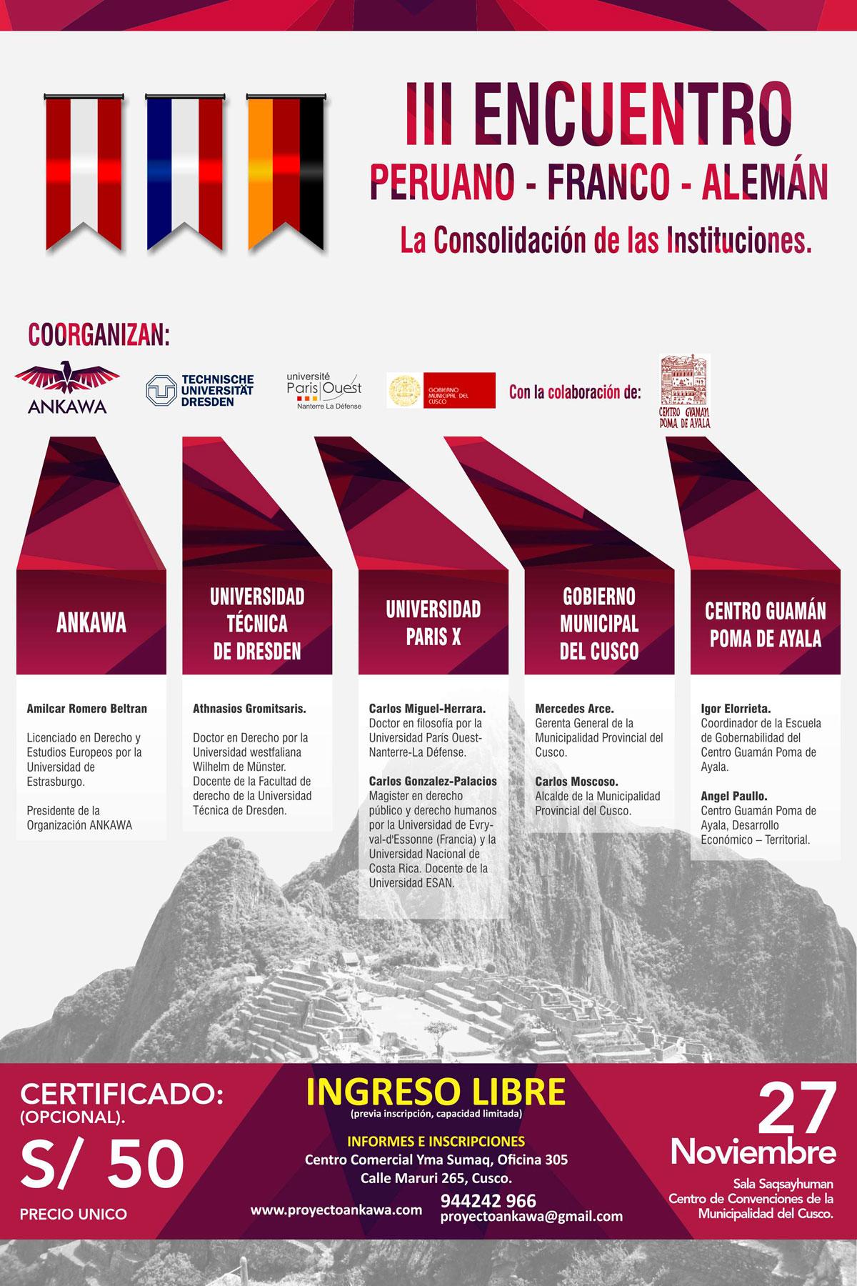 III Encuentro Peruano – Franco – Alemán