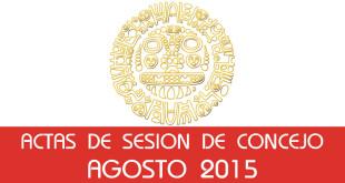 Actas de Sesión de Concejo - Agosto 2015