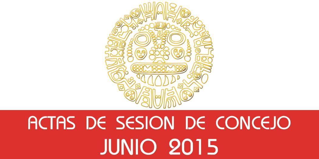 Actas de Sesión de Concejo – Junio 2015