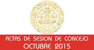 Actas de Sesión de Concejo - Octubre 2015