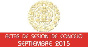 Actas de Sesión de Concejo - Septiembre 2015