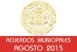 Acuerdos Municipales - Agosto 2015