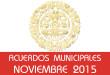 Acuerdos Municipales - Noviembre 2015