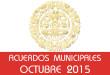Acuerdos Municipales - Octubre 2015