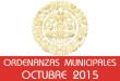 Ordenanzas Municipales - Octubre 2015