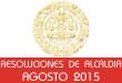 Resoluciones de Alcaldía - Agosto 2015