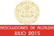 Resoluciones de Alcaldía - Julio 2015