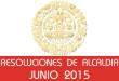 Resoluciones de Alcaldía - Junio 2015