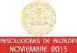 Resoluciones de Alcaldía - Noviembre 2015