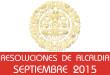 Resoluciones de Alcaldía - Septiembre 2015
