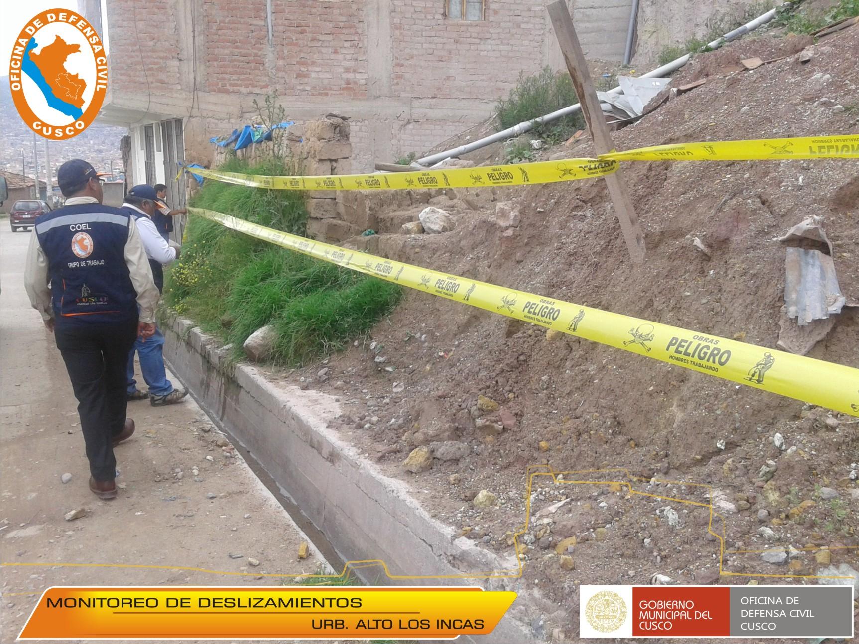 CONTINÚAN ACCIONES DE PREVENCIÓN POR DESLIZAMIENTOS EN DIFERENTES PUNTOS DE LA CIUDAD.