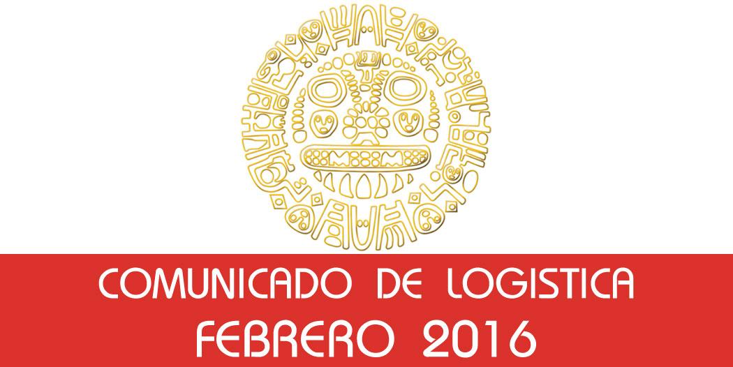 Comunicado Logística – Febrero 2016
