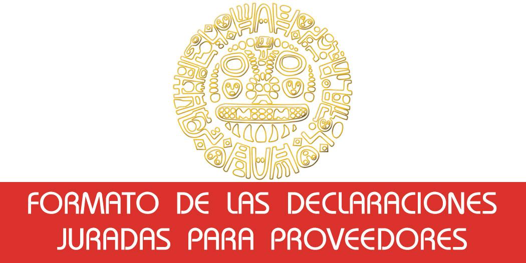 Formato Declaraciones Juradas Proveedores