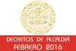 Decretos de Alcaldía - Febrero 2016