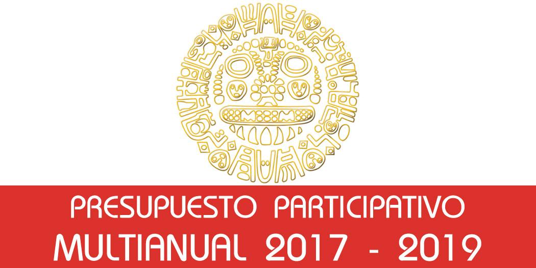 Presupuesto Participativo Multianual 2017 – 2019