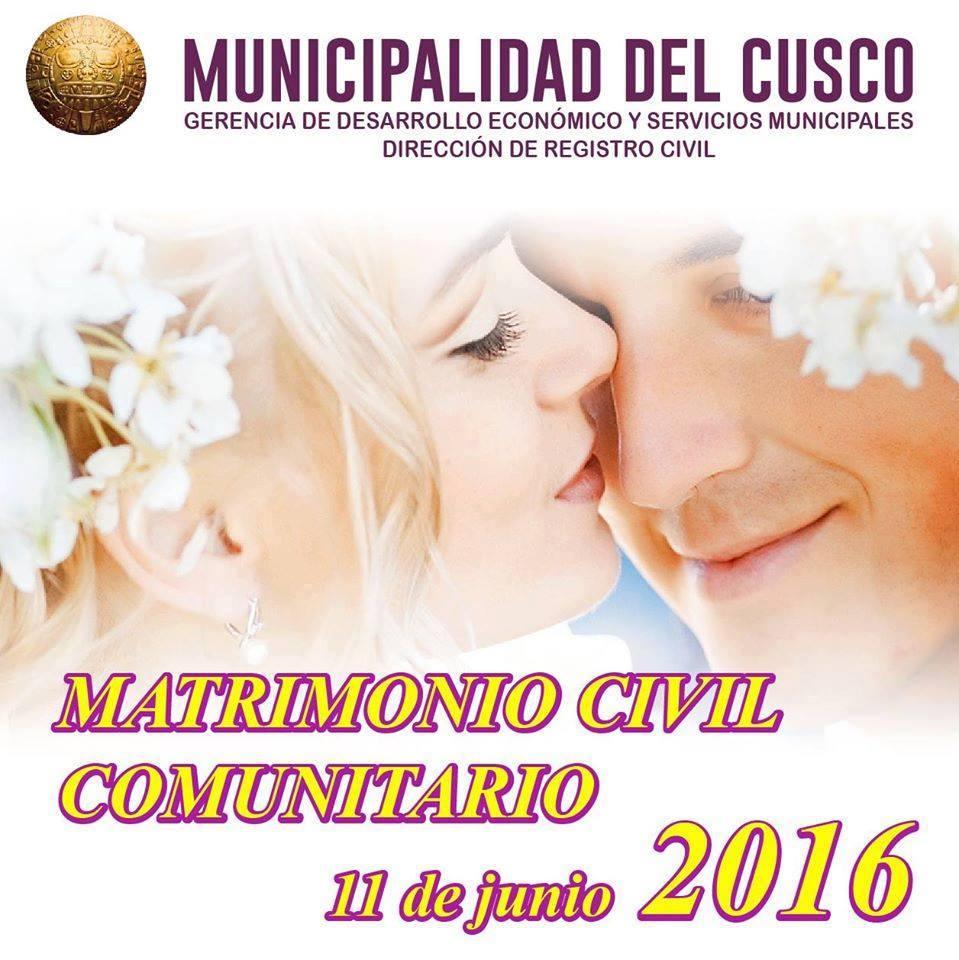 PRIMER MATRIMONIO CIVIL COMUNITARIO 2016
