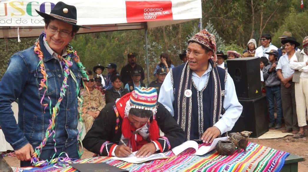 MUNICIPALIDAD DEL CUSCO Y COMUNIDAD CAMPESINA DE CHOCCO SUSCRIBEN CONVENIO MARCO INTERINSTITUCIONAL PARA GENERAR ESPACIOS VERDES