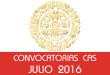 Convocatorias CAS - Julio 2016