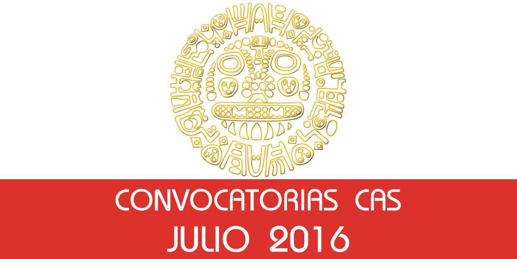 Convocatorias CAS – Julio 2016