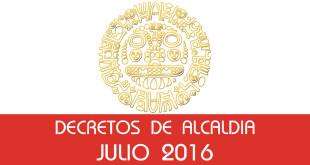 Decretos de Alcaldía - Julio 2016