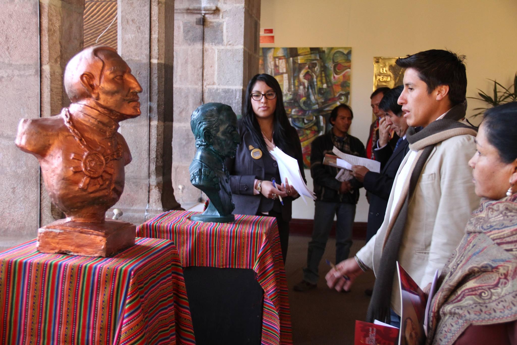 MUNICIPALIDAD DEL CUSCO PREMIÓ PARTICIPACIÓN DE ARTISTAS CUSQUEÑOS EN EL CONCURSO DE BUSTOS GARCILASISTAS