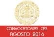 Convocatorias CAS - Agosto 2016