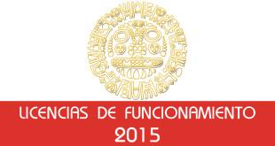 Licencias de Funcionamiento - 2015