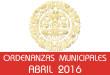 Ordenanzas Municipales - Abril 2016