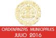 Ordenanzas Municipales - Julio 2016