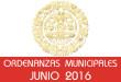 Ordenanzas Municipales - Junio 2016