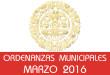 Ordenanzas Municipales - Marzo 2016