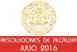 Resoluciones de Alcaldía - Julio 2016