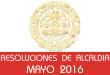 Resoluciones de Alcaldía - Mayo 2016