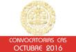 Convocatorias CAS - Octubre 2016