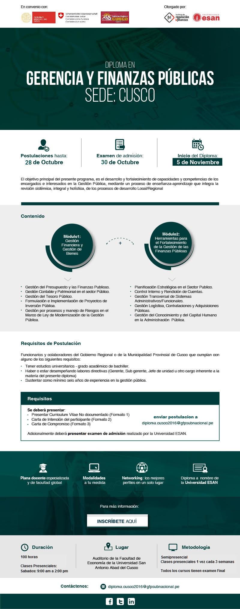Diplomado en Gerencia y Finanzas públicas