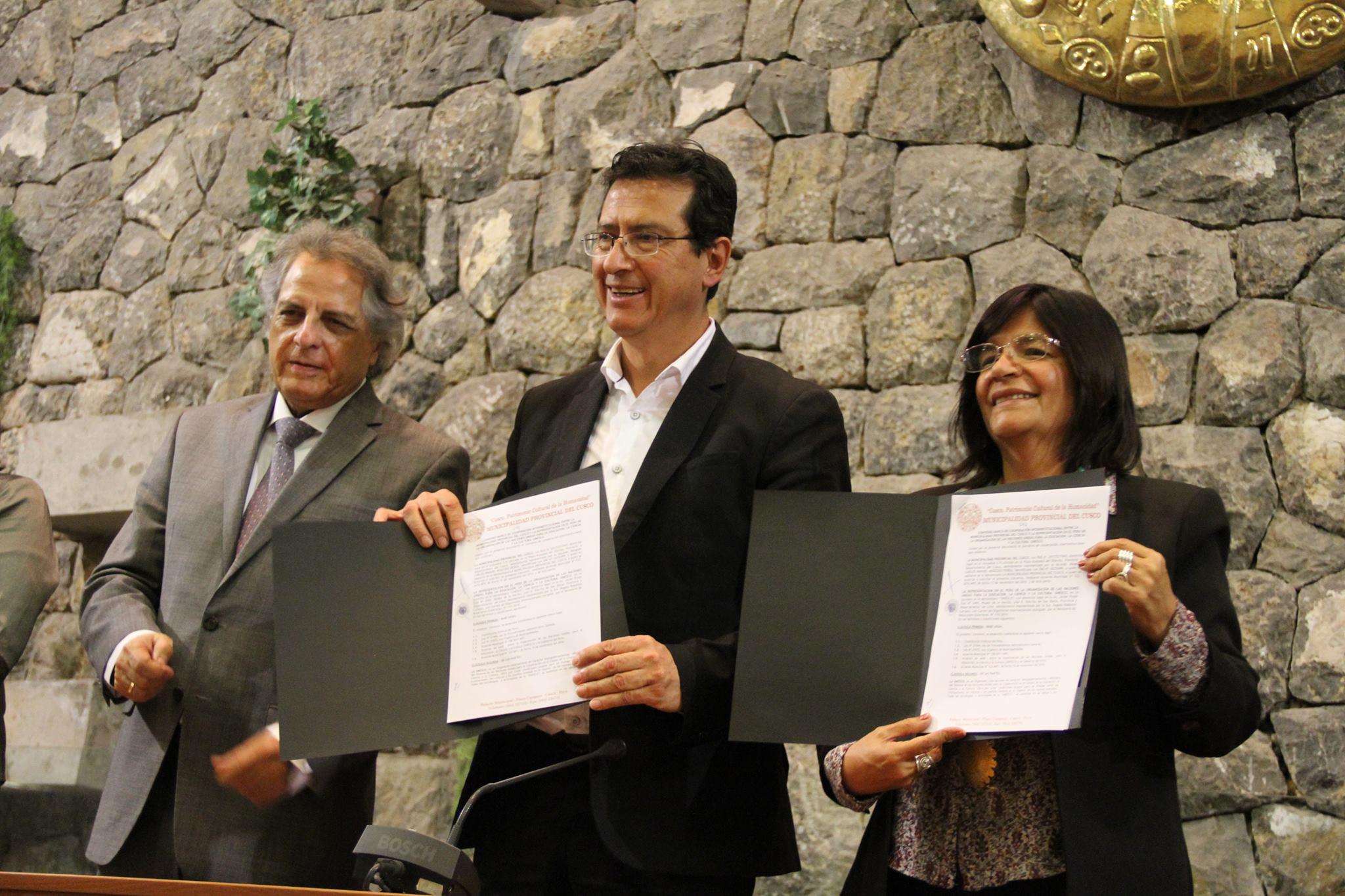 CONVENIO MARCO DE COOPERACIÓN INTERINSTITUCIONAL ENTRE LA MUNICIPALIDAD PROVINCIAL DEL CUSCO Y LA REPRESENTACIÓN EN EL PERÚ DE LA ORGANIZACIÓN DE LAS NACIONES UNIDAS PARA LA EDUCACIÓN, LA CIENCIA Y LA CULTURA – UNESCO.