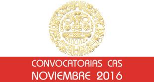 Convocatorias CAS - Noviembre 2016